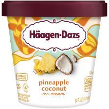 Haagen Dazs Ice Cream, Pineapple Coconut