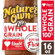 Natures Own Life Bread, Sugar Free, 100% Whole Grain