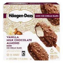 Haagen Dazs Ice Cream Bars, Vanilla Milk Chocolate Almond, Snack Size