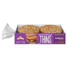 Arnold Sandwich Thins, Multigrain, Sandwich Size Pre-Sliced Rolls