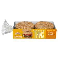 Arnold Sandwich Thins, Honey Wheat, Sandwich Size Pre-Sliced Rolls