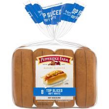 Pepperidge Farm Bakery Classics Hot Dog Buns, Top Sliced