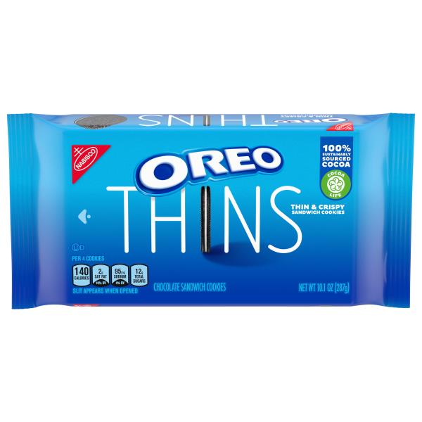 Oreo Thins Cookies, Sandwich, Chocolate