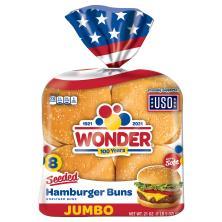 Wonder Hamburger Buns, Jumbo