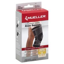 Mueller Knee Support, 4-Way Stretch, Moderate Support, SM/MD