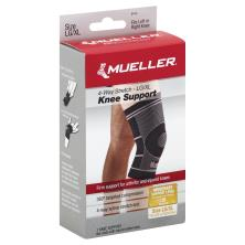 Mueller Knee Support, 4-Way Stretch, Moderate Support, LG/XL