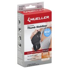 Mueller Thumb Stabilizer, Reversible, Adjustable, Maximum Support, One Size Fits Most