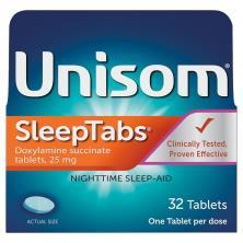 Unisom SleepTabs Nighttime Sleep-Aid, 25 mg, Tablets