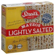 Streits Matzos, Lightly Salted