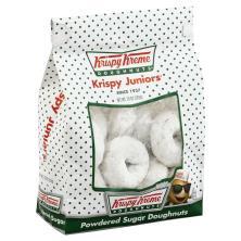 Krispy Kreme Krispy Juniors Doughnuts, Powdered Sugar