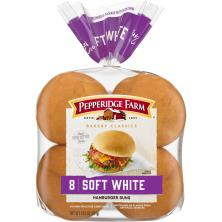 Pepperidge Farm Bakery Classics Hamburger Buns, Soft White
