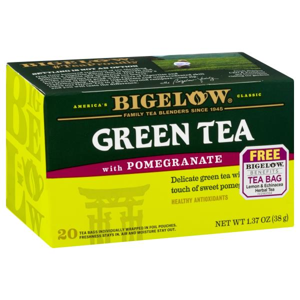 Bigelow Green Tea, with Pomegranate, Bags