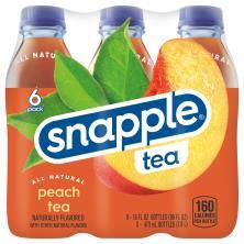 Snapple Tea, Peach, Glass Bottles