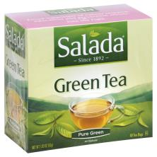 Salada Green Tea, Pure Green, Tea Bags