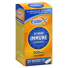 Ester C Immune Support, 24 Hour, 500 mg, Vegetarian Coated Tablets