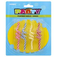 Unique Party Birthday Candles, Bougies, 3.25 Inch