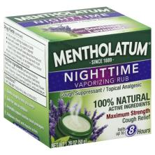 Mentholatum Vaporizing Rub, Nighttime, Maximum Strength, with Soothing Lavender
