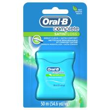 Oral B Complete Floss, Satin, Mint