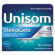 Unisom SleepGels Nighttime Sleep-Aid, 50 mg, SoftGels