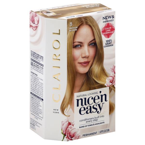 Nice N Easy Permanent Color Natural Looking Medium Blonde 8