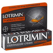 Lotrimin AF Clotrimazole Cream, Antifungal, for Athlete's Foot