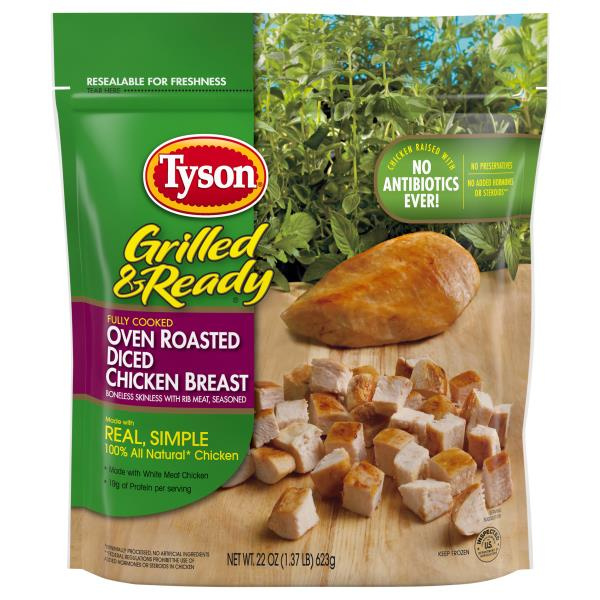 Tyson Grilled Amp Ready Chicken Breast Oven Roasted Diced Publix Com