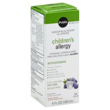 Publix Children's Allergy, Indoor & Outdoor Allergies, Oral Solution, Grape-Flavor