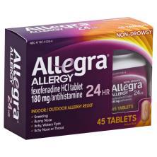 Allegra Allergy, 24 hr, 180 mg, Non-Drowsy, Tablet