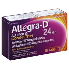 Allegra D Allergy & Congestion, 24 HR, Extended Release Tablets