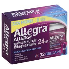 Allegra Allergy, 24 Hour, 180 mg, Non-Drowsy, Gelcaps