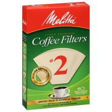 Melitta Coffee Filters, Cone, Natural Brown, No. 2