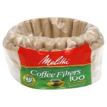 Melitta Coffee Filters, Basket, Natural Brown Unbleached Paper