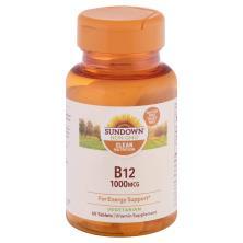 Sundown Naturals Vitamin B12, 1000 mcg, Tablets