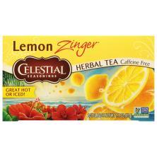 Celestial Seasonings Herbal Tea, Lemon Zinger, Caffeine Free, Bags