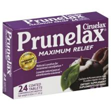 Prunelax Ciruelax Laxative, Natural, Maximum Relief, Coated Tablets