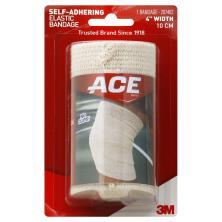 ACE Elastic Bandage, Self-Adhering, 4 Inch Width