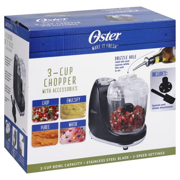 Oster Chopper, 3-Cup, with Accessories
