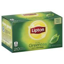 Lipton Green Tea, Pure, Bags