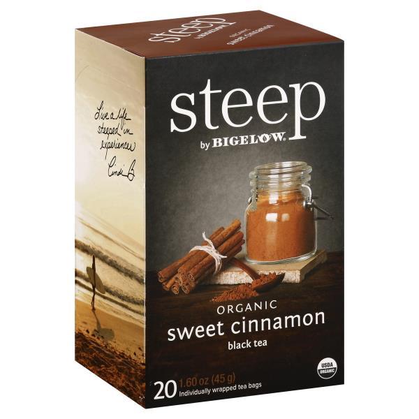 Elow Steep Black Tea Organic Sweet Cinnamon Individually Wred Bags