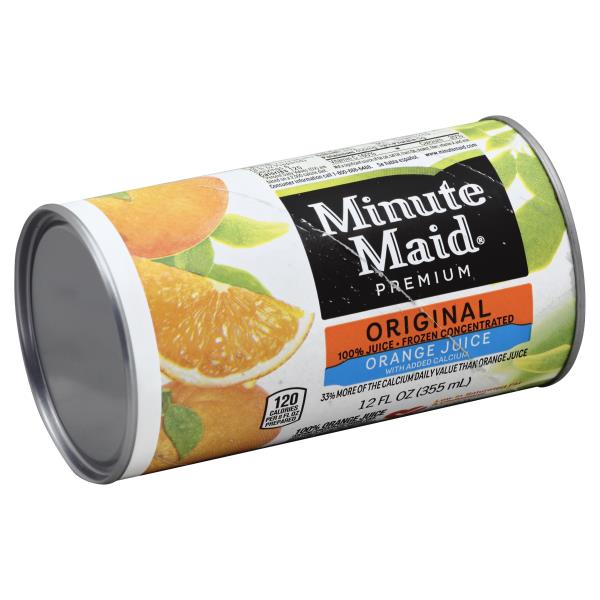 Minute Maid Premium 100% Juice, Orange, Frozen Concentrated, with Added Calcium, Original