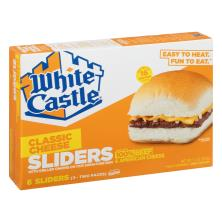 White Castle Cheese Sliders, Cheeseburgers