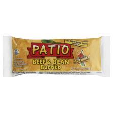 Patio Beef & Bean Burrito, Medium