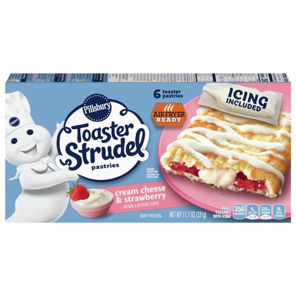 Pillsbury Toaster Strudel Pastries, Cream Cheese & Strawberry