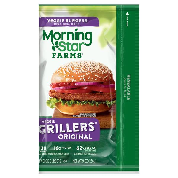 MorningStar Farms Burgers, Veggie, Grillers Original