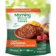 MorningStar Farms Sausage Patties, Veggie, Breakfast, Original