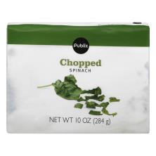 Publix Spinach, Chopped