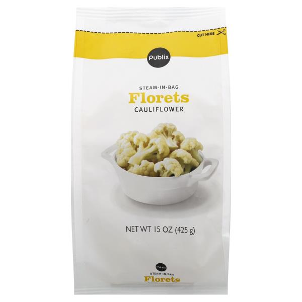 Publix Cauliflower, Florets, Steam-in-Bag