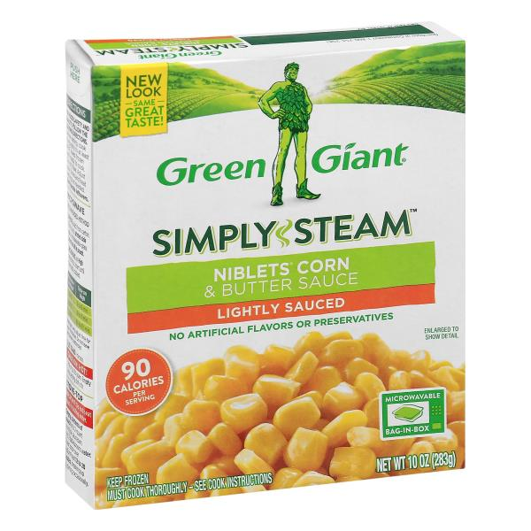Green Giant Steamers Niblets Corn & Butter Sauce, Lightly Sauced