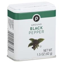 Publix Pepper, Black, Pure Ground