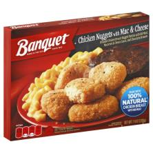 Banquet Chicken Nuggets, with Mac & Cheese